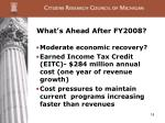 what s ahead after fy2008