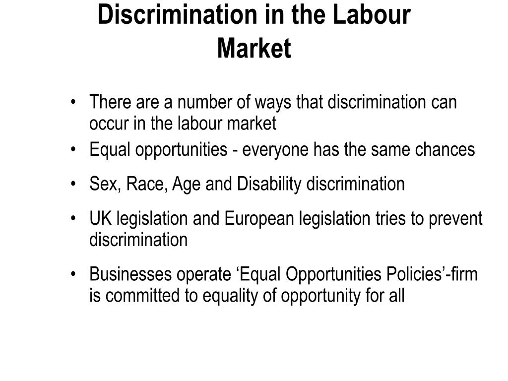 Discrimination in the Labour