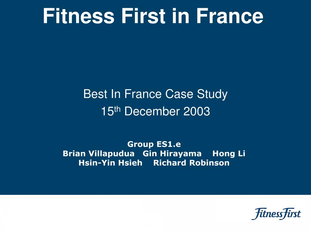 Fitness First in France