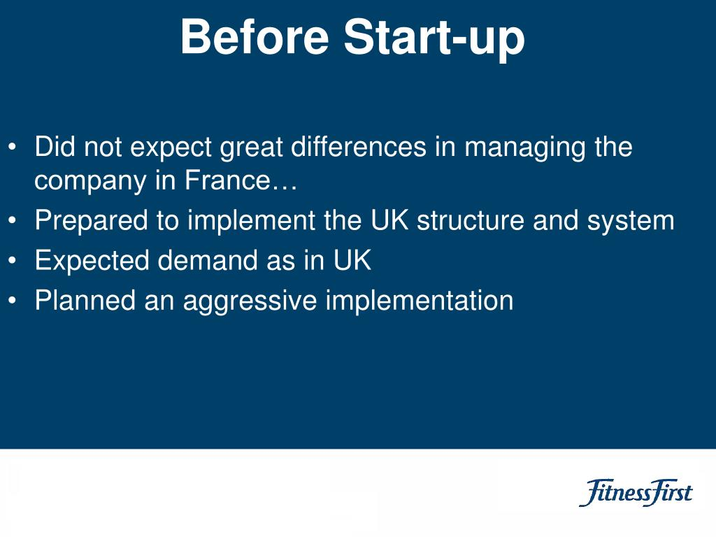 Before Start-up