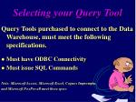 selecting your query tool11
