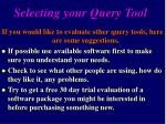 selecting your query tool12