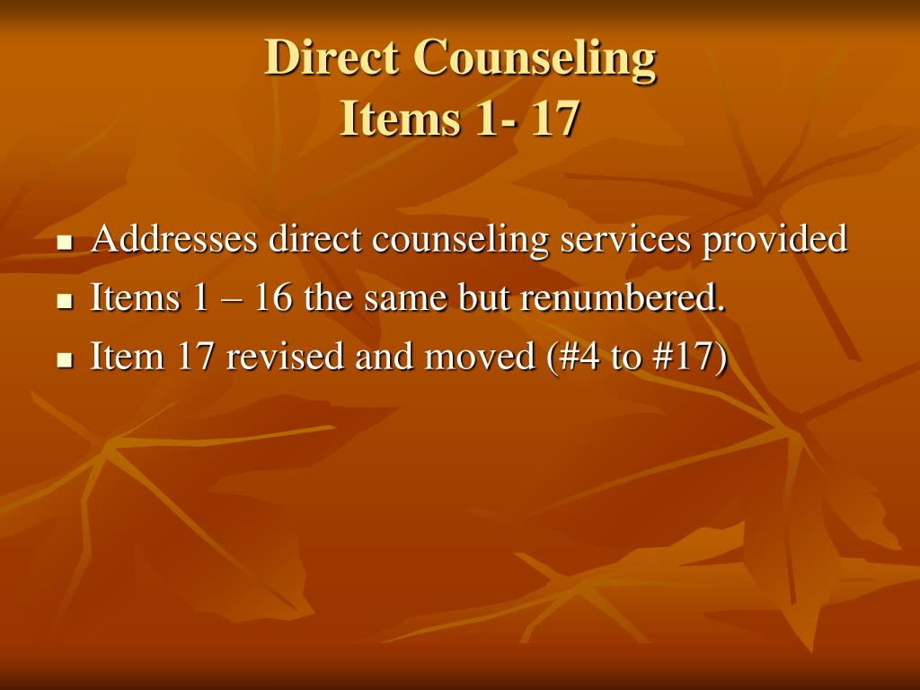 Direct Counseling