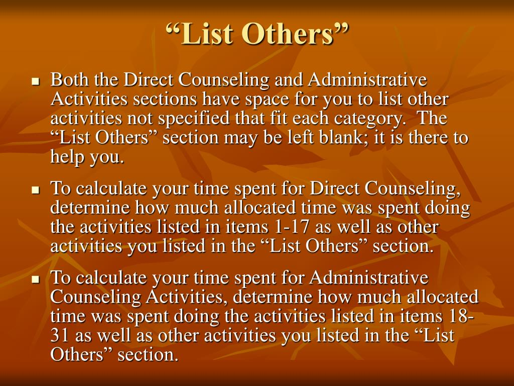 """""""List Others"""""""