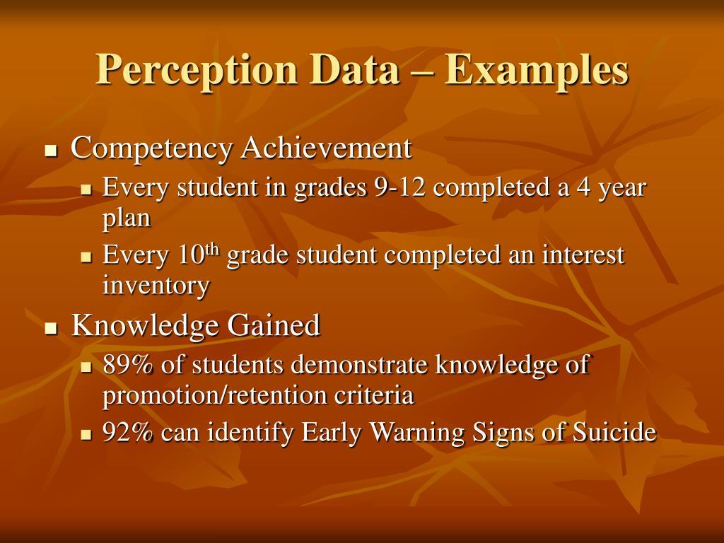 Perception Data – Examples
