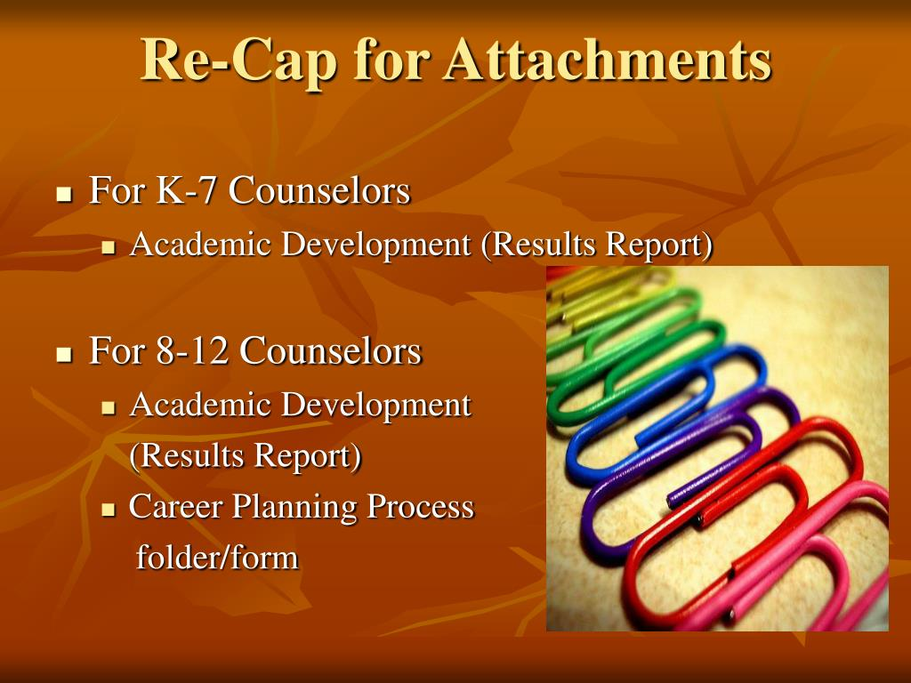 Re-Cap for Attachments