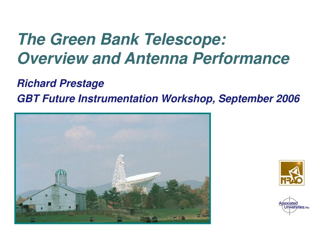 the green bank telescope overview and antenna performance l.
