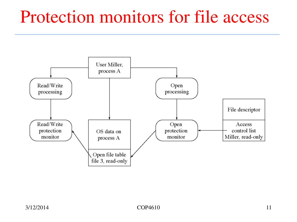 Protection monitors for file access