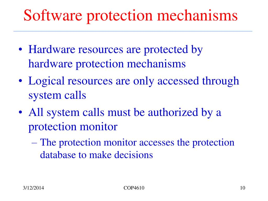 Software protection mechanisms
