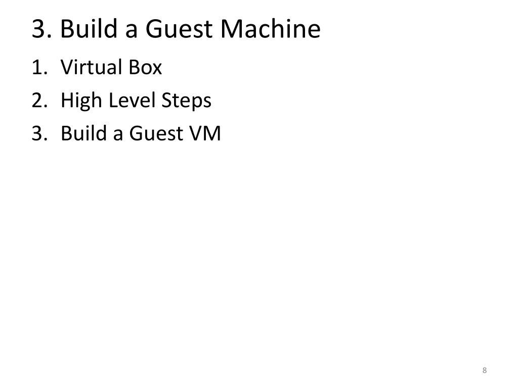3. Build a Guest Machine