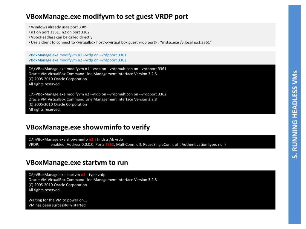 VBoxManage.exe modifyvm to set guest VRDP port