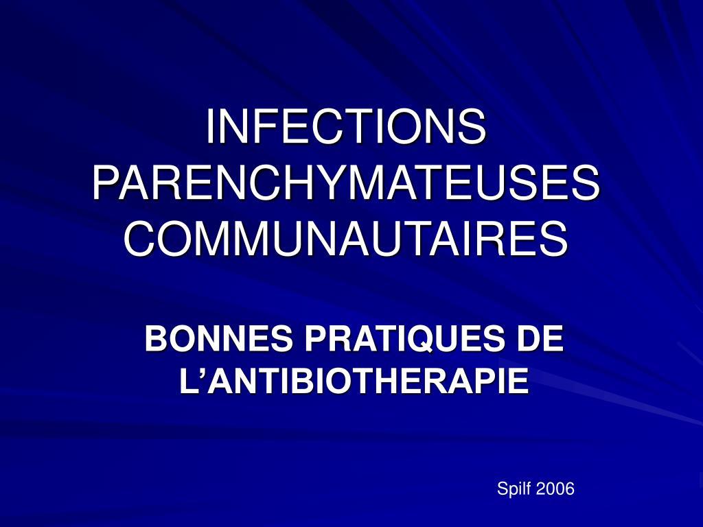 infections parenchymateuses communautaires l.
