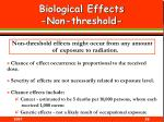 biological effects non threshold