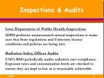 inspections audits