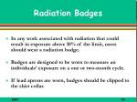 radiation badges