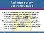 radiation safety laboratory rules48