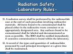 radiation safety laboratory rules49