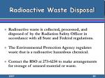 radioactive waste disposal85