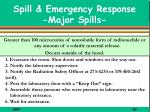spill emergency response major spills