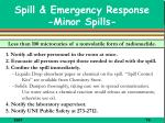 spill emergency response minor spills