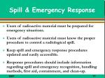 spill emergency response
