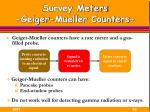 survey meters geiger mueller counters