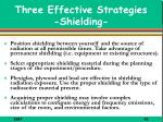 three effective strategies shielding
