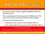 wipe test action levels