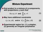 mixture experiment