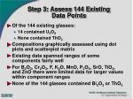 step 3 assess 144 existing data points