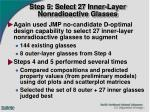 step 5 select 27 inner layer nonradioactive glasses