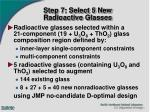 step 7 select 5 new radioactive glasses