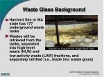 waste glass background