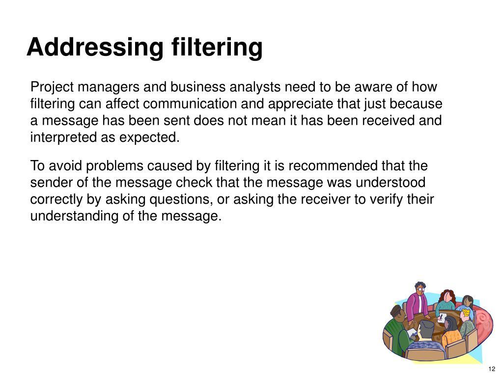 Addressing filtering
