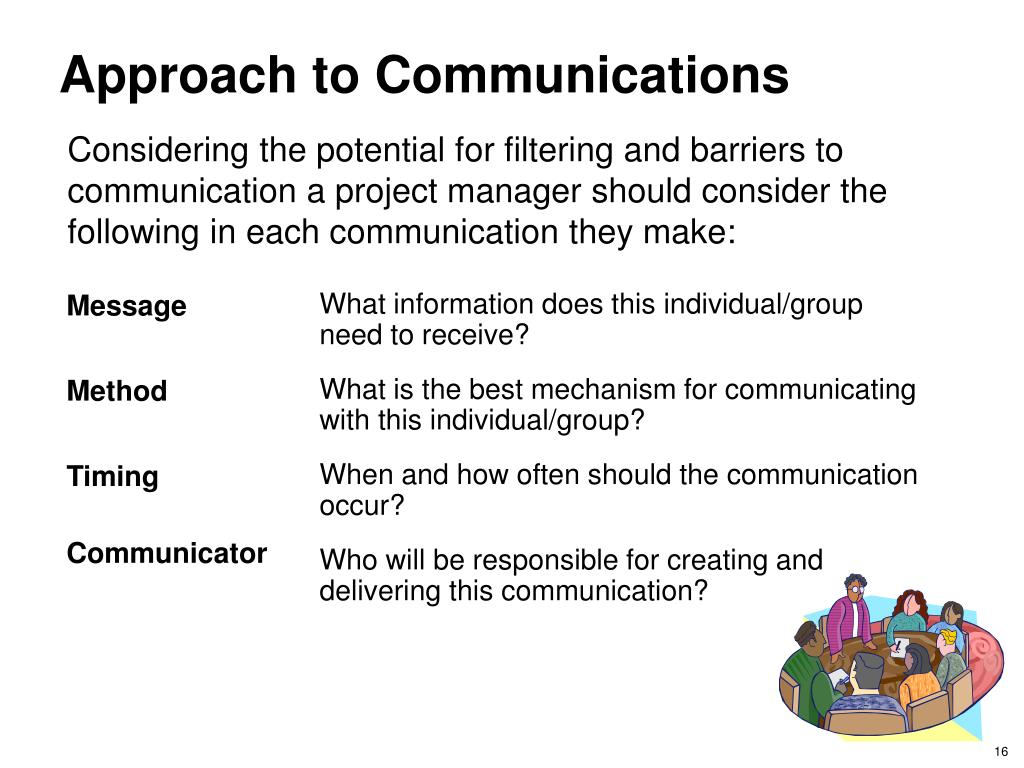 Approach to Communications