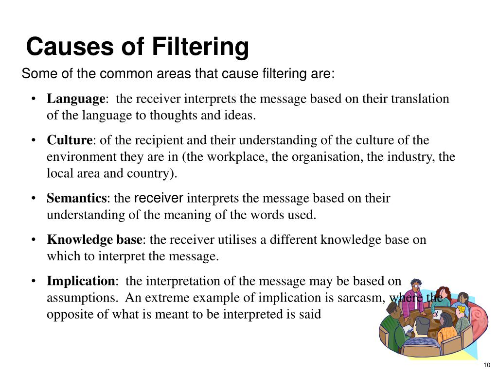 Causes of Filtering