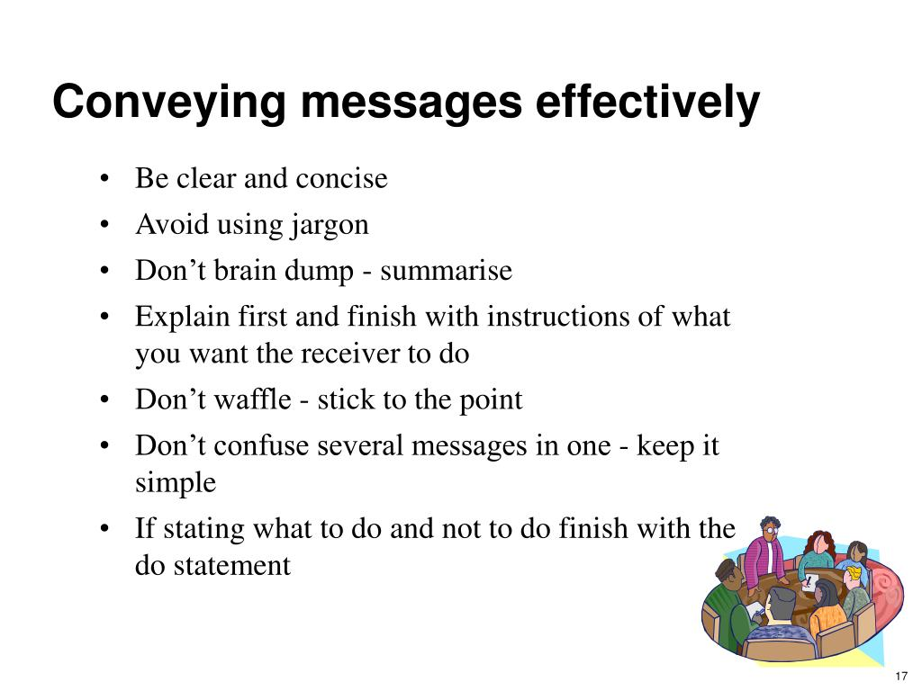 Conveying messages effectively