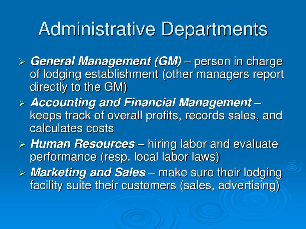 Administrative Departments
