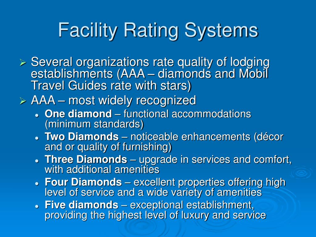 Facility Rating Systems