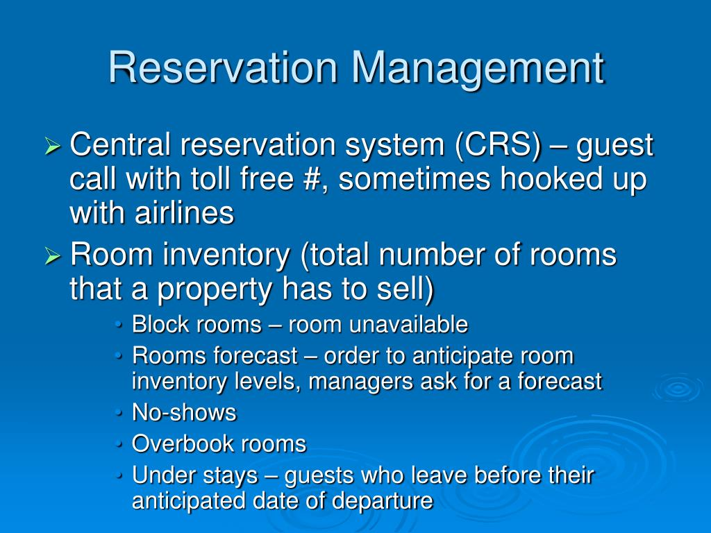 Reservation Management