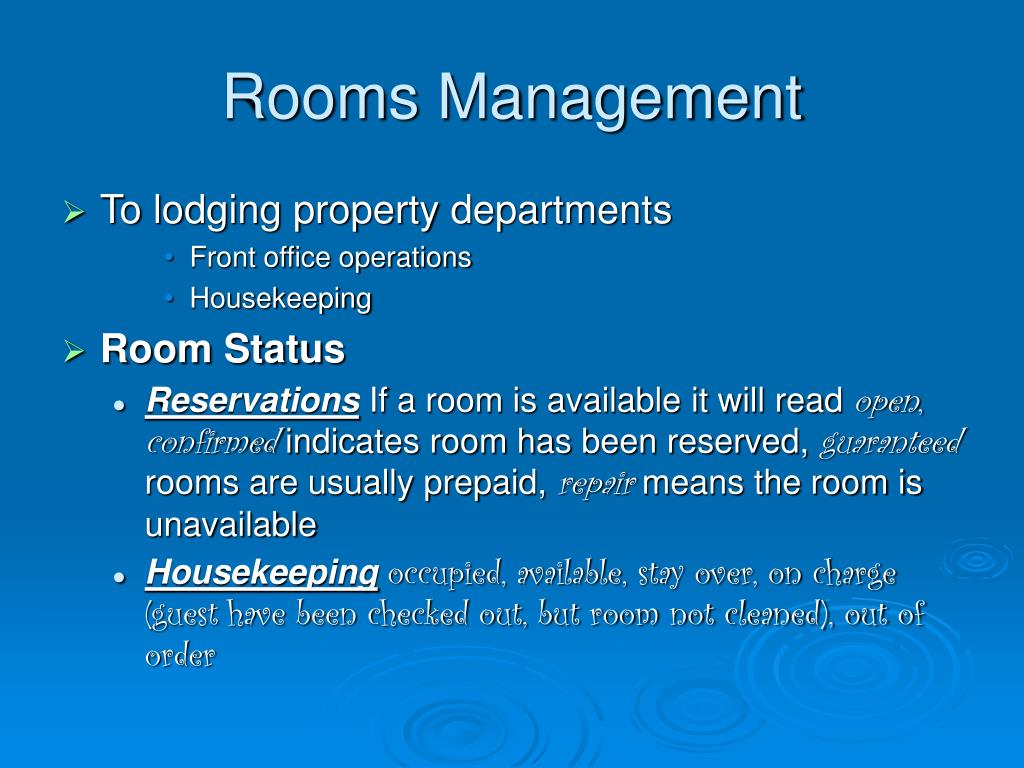 Rooms Management