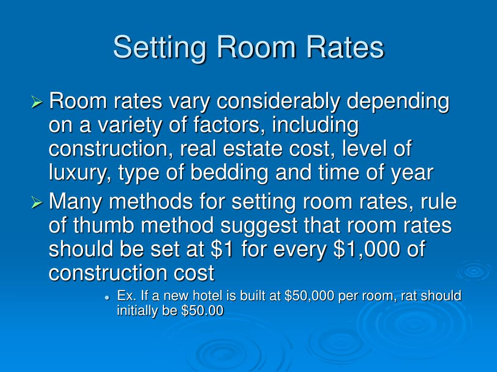 Setting Room Rates