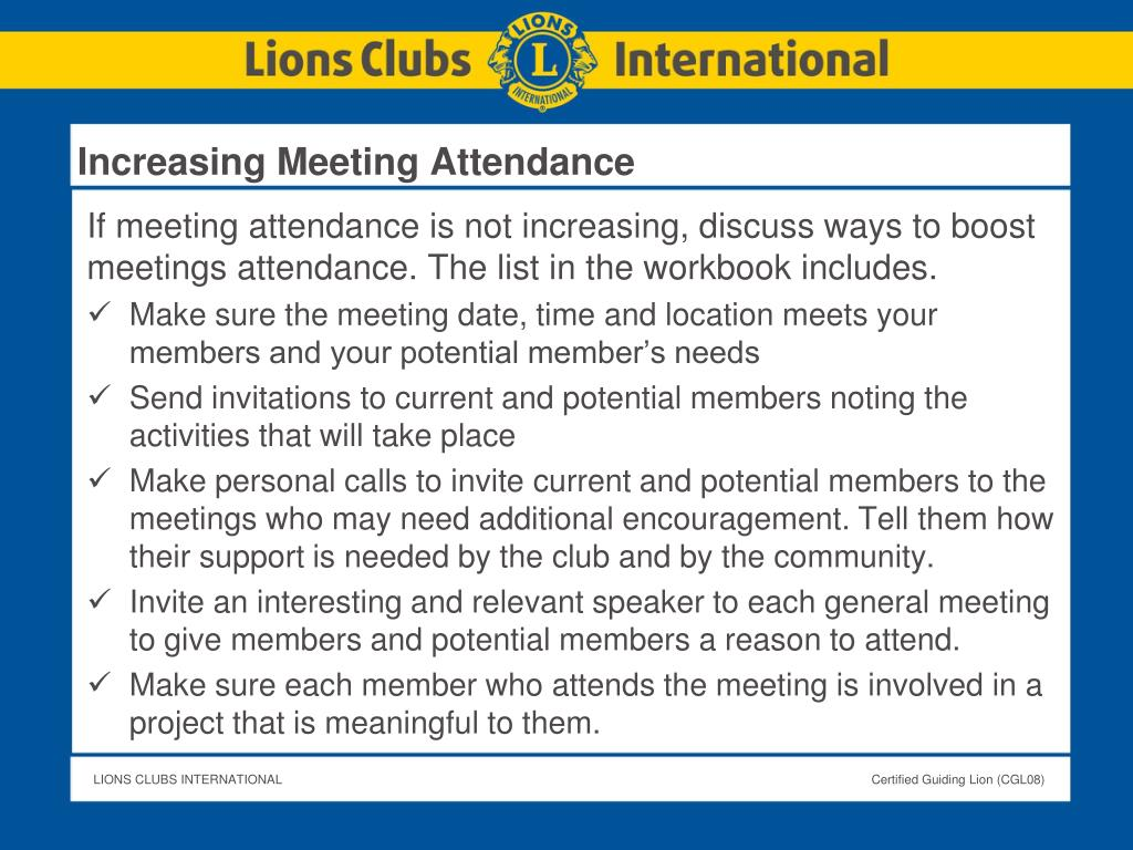 Increasing Meeting Attendance