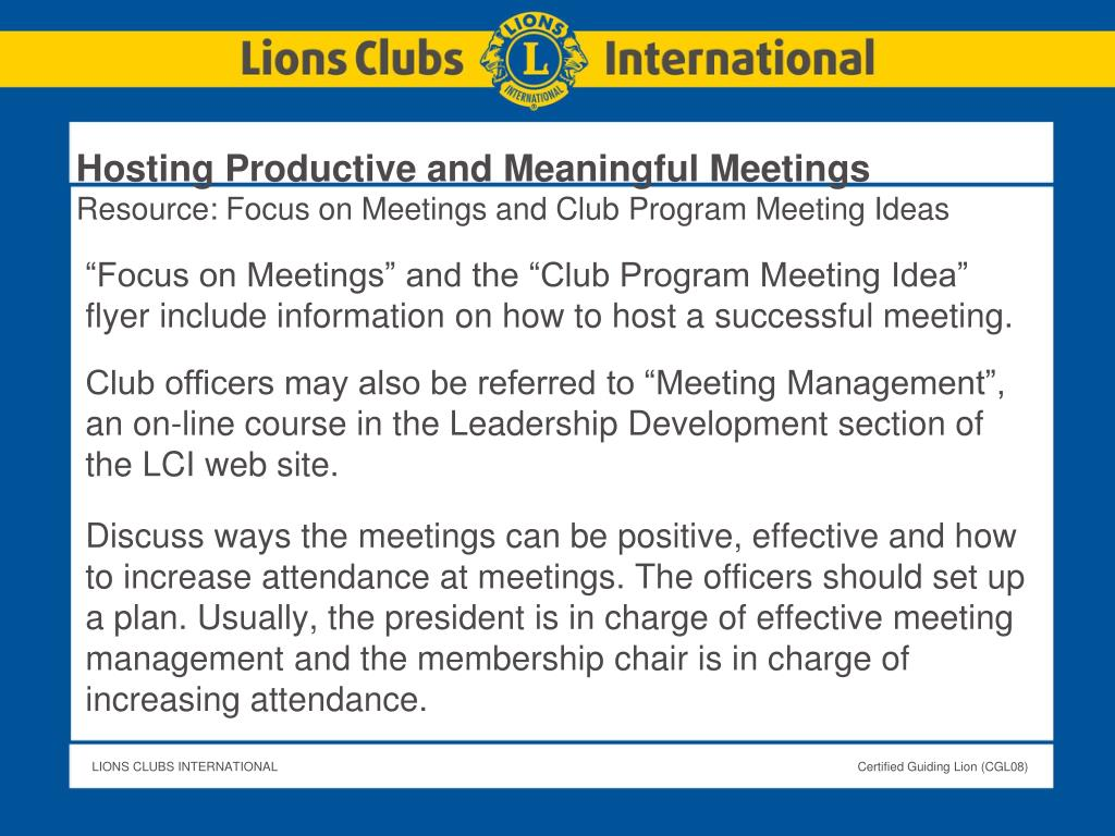 Hosting Productive and Meaningful Meetings