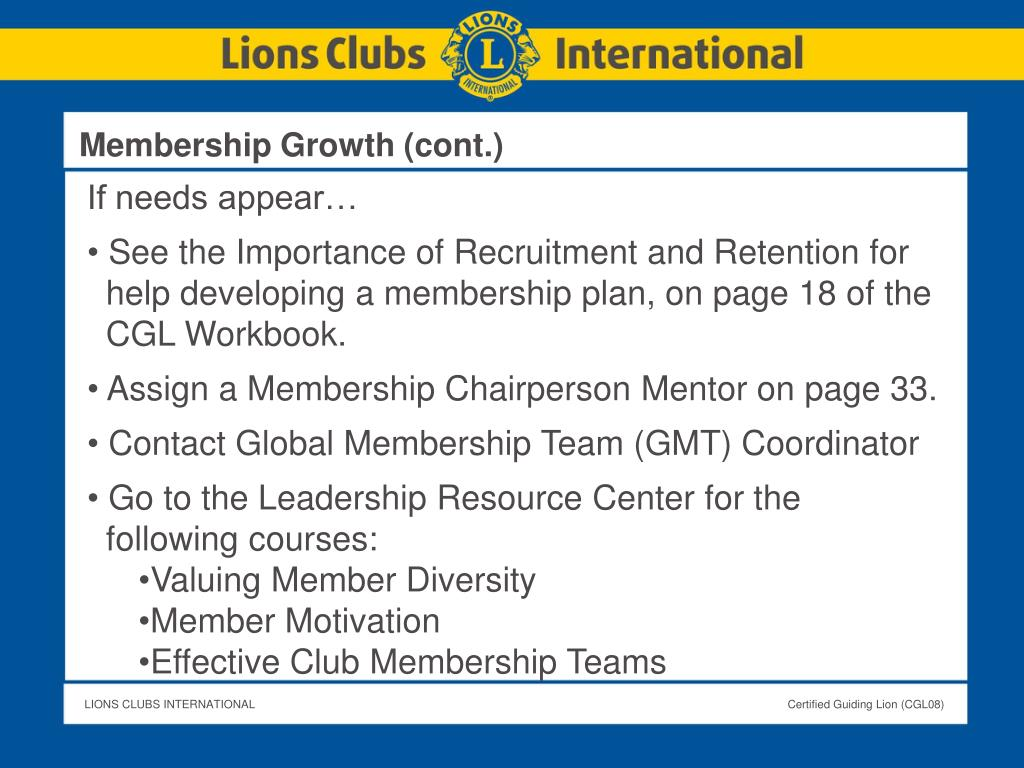 Membership Growth (cont.)