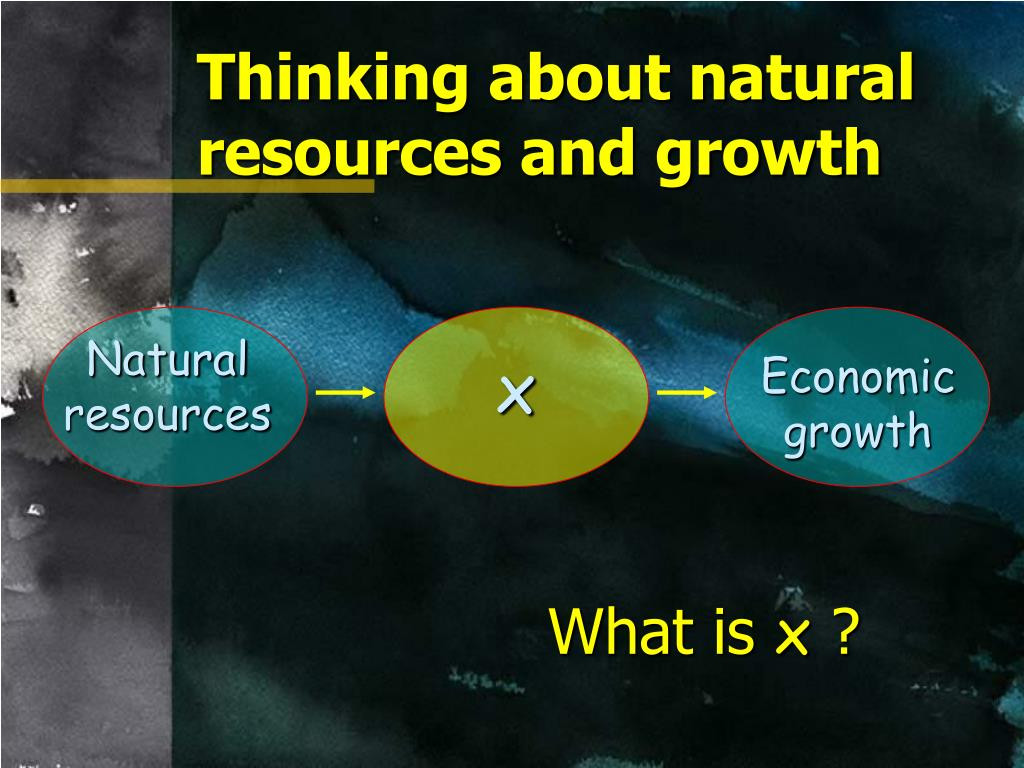 Thinking about natural resources and growth