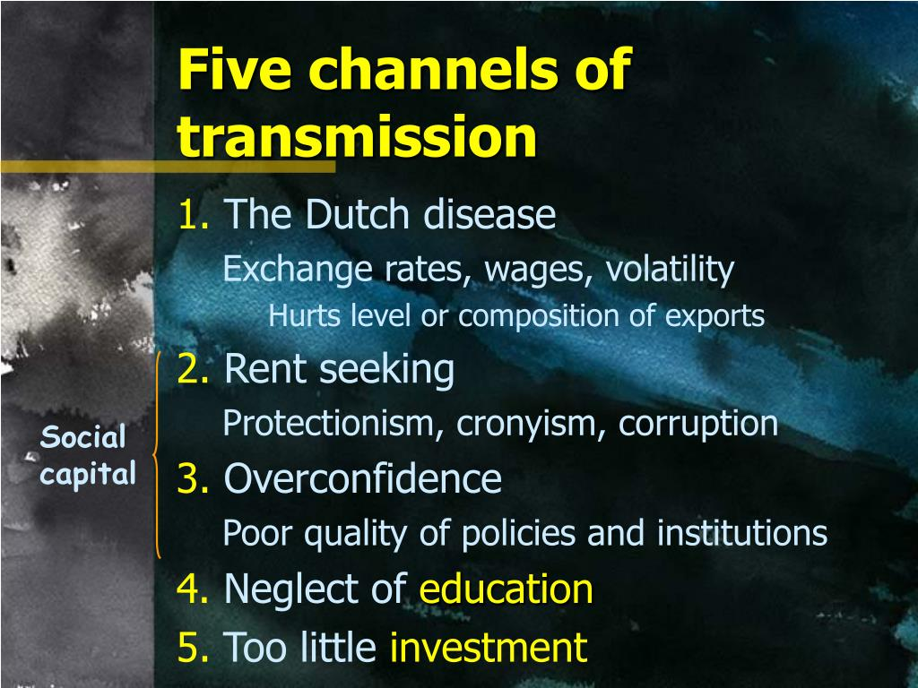 Five channels of transmission
