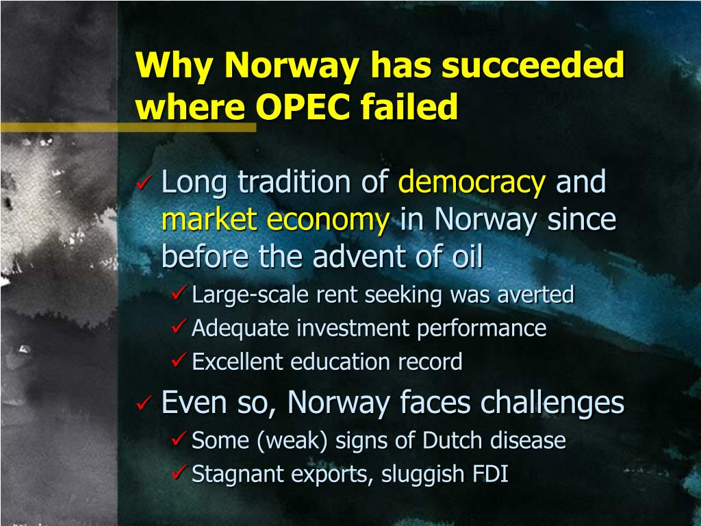 Why Norway has succeeded where OPEC failed