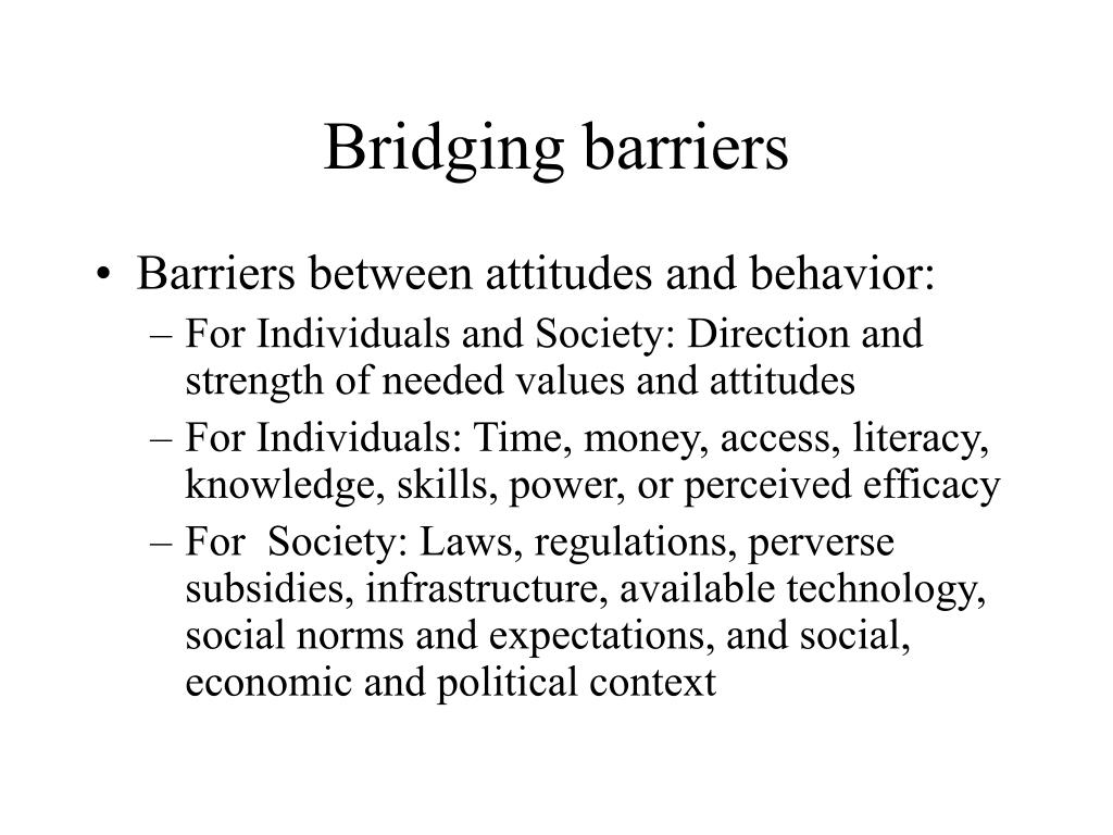 Bridging barriers