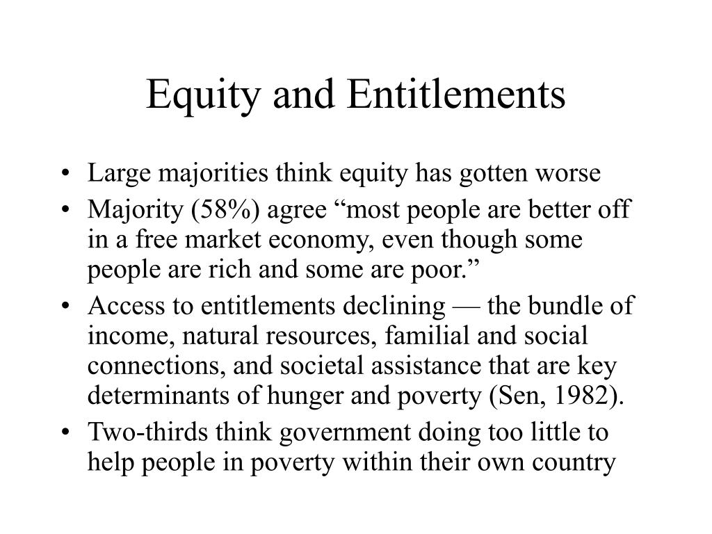 Equity and Entitlements